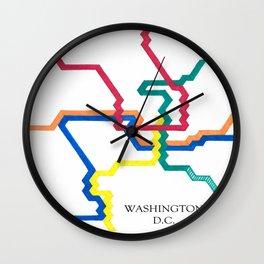 Washington D.C. Metro Wall Clock