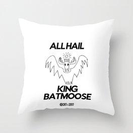 King Batmoose Throw Pillow