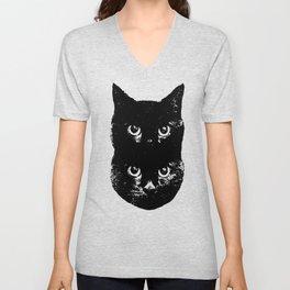 Black Cat Rising Unisex V-Neck
