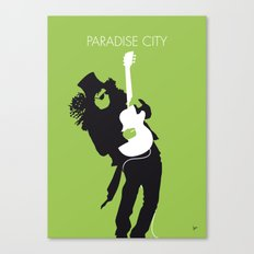 No036 Paradise city Minimal Music poster Canvas Print