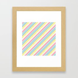 Party stripes Framed Art Print