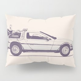 Famous Car #2 - Delorean Pillow Sham