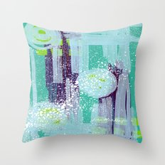 Teal Background Throw Pillow