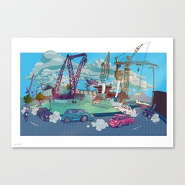 crazy roundabout  Canvas Print
