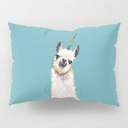 Unicorn Llama Blue Pillow Sham