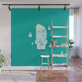 Ghostly Cactus Wall Mural