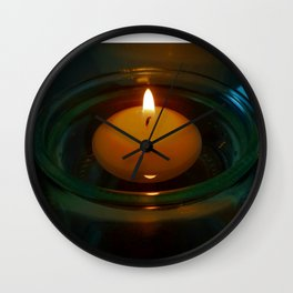 Floating Candle Light Wall Clock