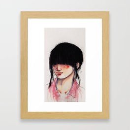Girl with the Fringe Framed Art Print