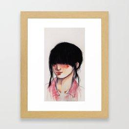 Girl with the Fringe Framed Art Print