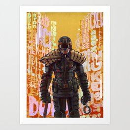 Judge Dredd Art Print