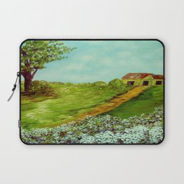 Cotton on a Cloudy Day Laptop Sleeve