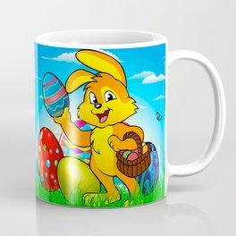 Easter bunny rabbit with Easter basket Coffee Mug