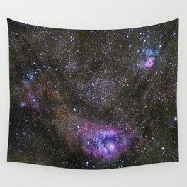 Lagoon and Trifid Nebula in Sagitarius Wall Tapestry