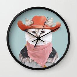 Rodeo Cat Wall Clock