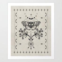 Magical Moth Art Print