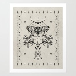 Magical Moth Art Print