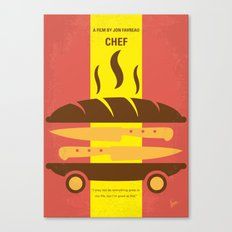 No524 My CHEF minimal movie poster Canvas Print