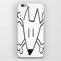 bull terrier iPhone & iPod Skins featuring Bull Terrier Skull by Chiaris