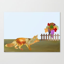 The Fox and the Vineyard Canvas Print