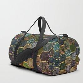 honeycomb mermaid scales Duffle Bag