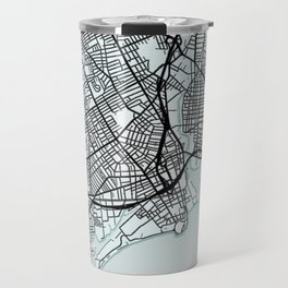 Bridgeport, CT, USA, White, City, Map Travel Mug