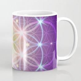 Purple Flower of Life Coffee Mug
