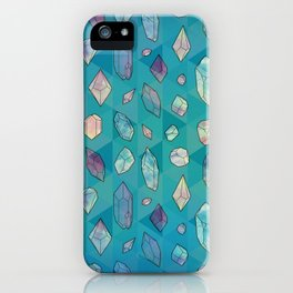 Healing Crystals 2 iPhone Case