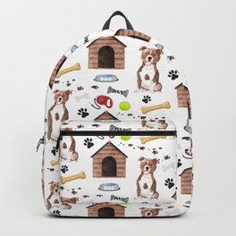 Staffordshire Dog Half Drop Repeat Pattern Backpack