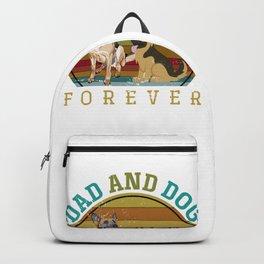 Dad And Dog Shepherd Backpack