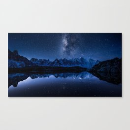 Night mountains Canvas Print