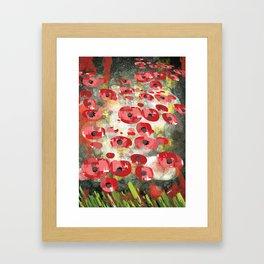 angela's poppies Framed Art Print