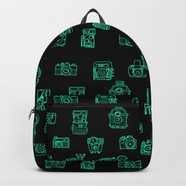 Cameras: Teal - pop art illustration Backpack