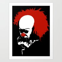 pennywise Art Prints featuring Pennywise by KlatuCorp