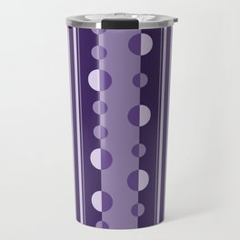 Modern Circles and Stripes in Violet Travel Mug