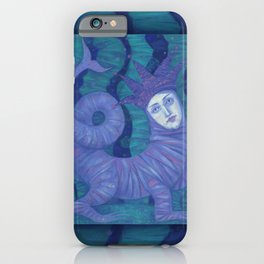 Melusine, Water Spirit, Underwater Fantasy Surreal Art iPhone Case