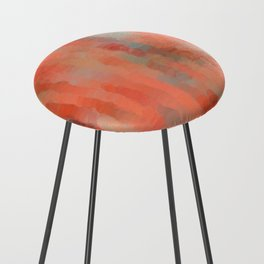 Coral Mirage Counter Stool
