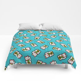 Lucky Cat Pattern Comforters