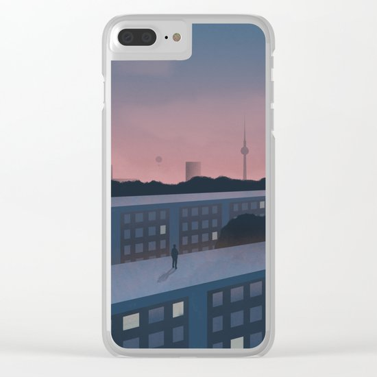 Berlin morning Clear iPhone Case