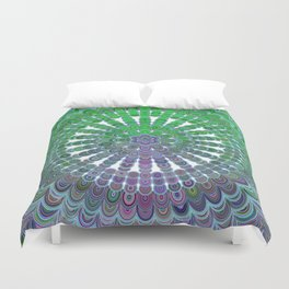 Spring Mandala Wheel Duvet Cover