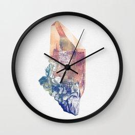 Byzantium Crystal City Wall Clock