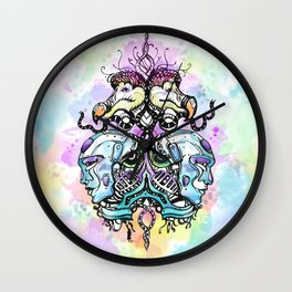Robots vs Dodo - Festival - Colorful - Art by Lana Chromium Wall Clock