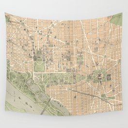 Vintage Map of Washington DC (1892) Wall Tapestry