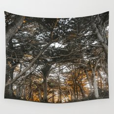 Golden Light Through The Trees Wall Tapestry