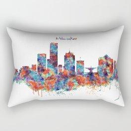 Milwaukee Skyline Rectangular Pillow