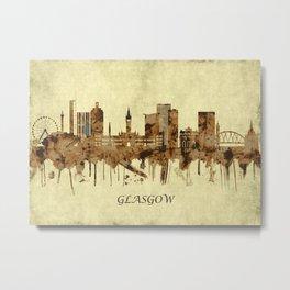 Glasgow Scotland Cityscape Metal Print