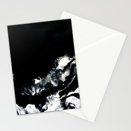 Mirrored Smoke Abstract Painting Stationery Cards