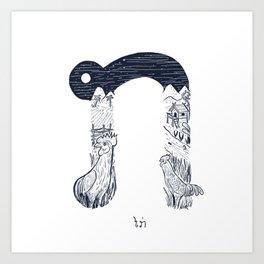 Lao Consonant - ກ Art Print