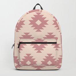 Southwestern Pattern 439 Dusty Rose and Beige Backpack