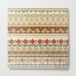 Aztec pattern 03 Metal Print