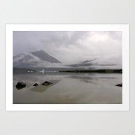 Mendenhall Lake Art Print